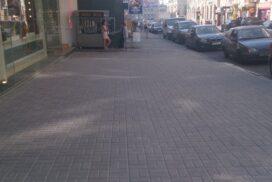 Укладка тротуарной плитки кирпичик в Харькове