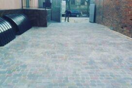 Укладка тротуарной плитки в Харькове старый город